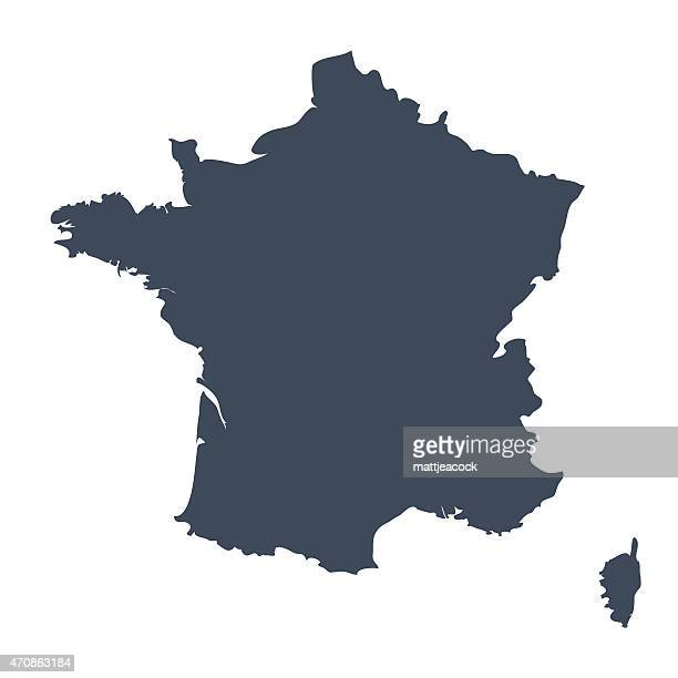 france country map - france stock illustrations