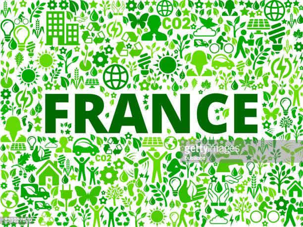 France Environmental Conservation Vector Icon Pattern