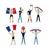 France football fans Cheerful soccer