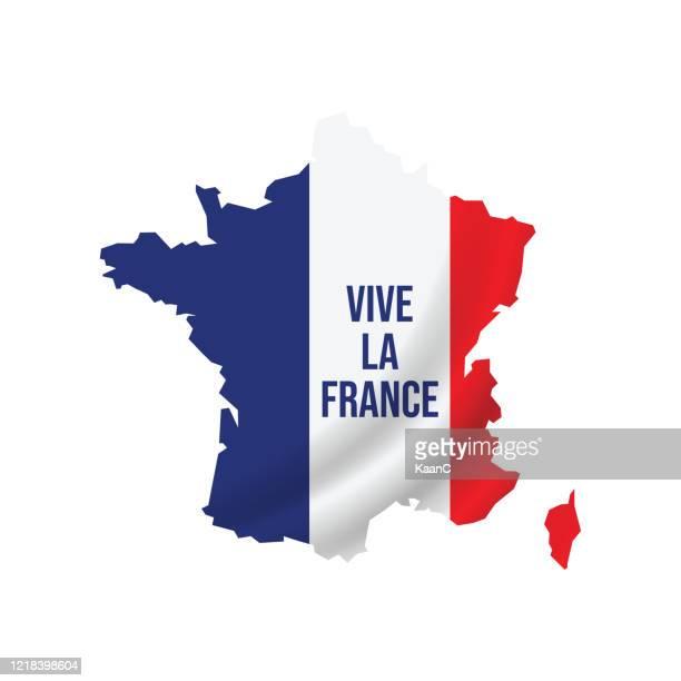 stockillustraties, clipart, cartoons en iconen met frankrijk. veertien juli. fijne bastille dag. stockillustratie - franse vlag