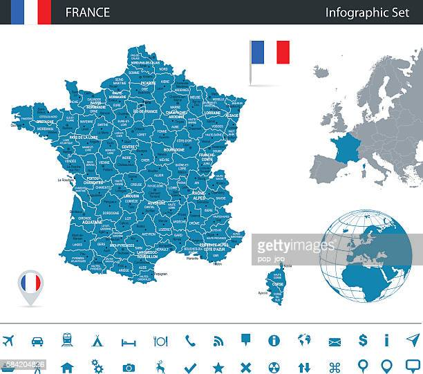 France - infographic map - Illustration