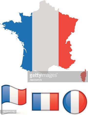 France Map Flag.France Map Flag Vector Art Getty Images