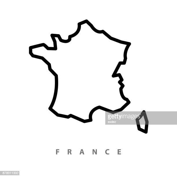 illustrazioni stock, clip art, cartoni animati e icone di tendenza di france map illustration - carta geografica