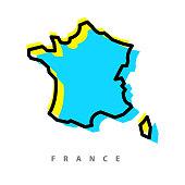 France map illustration