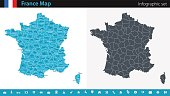 France Map - Infographic Set