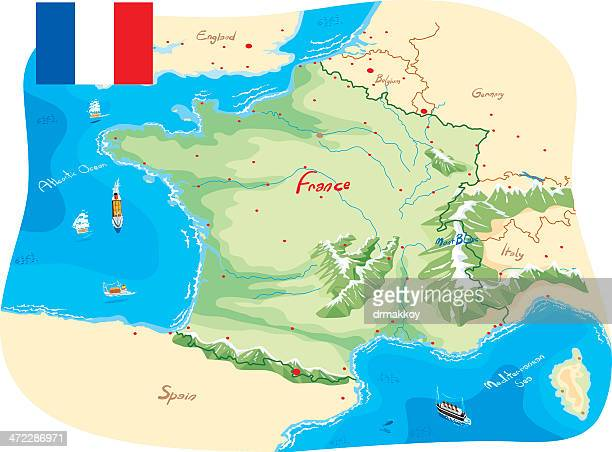 france map - france stock illustrations