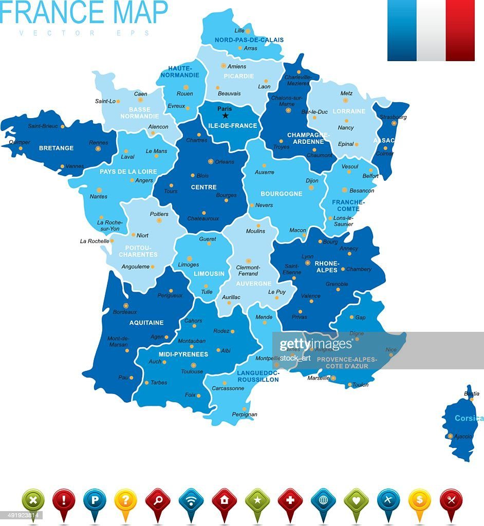 France Map Vector Art Getty Images