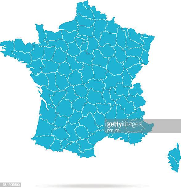 france map - toulouse stock illustrations, clip art, cartoons, & icons