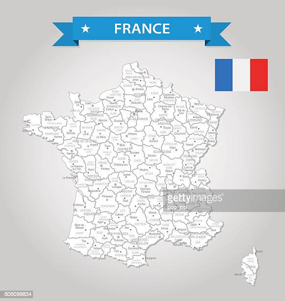 france - old-fashioned map - illustration - nice france stock illustrations, clip art, cartoons, & icons