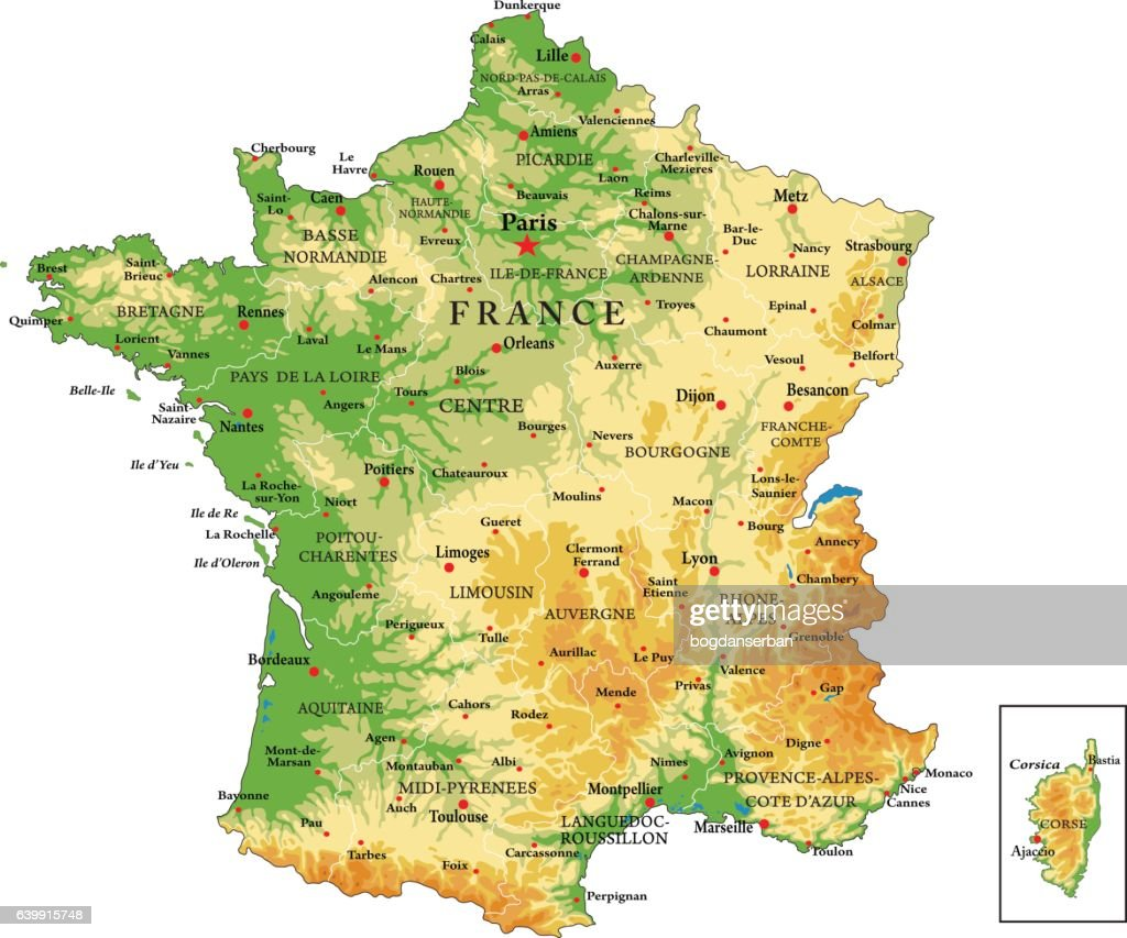 France physical map