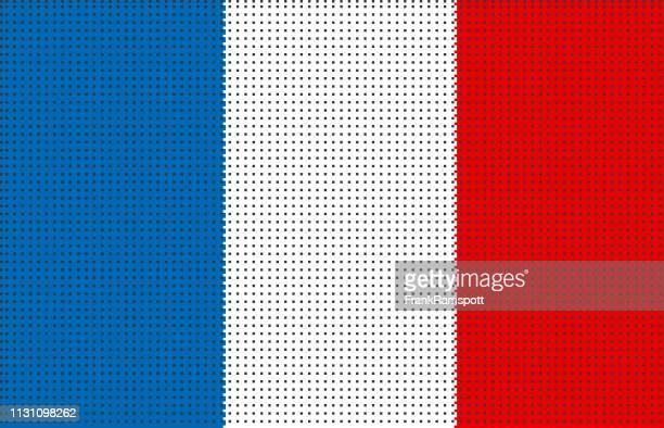 Frankreich pixelte Vektorflagge