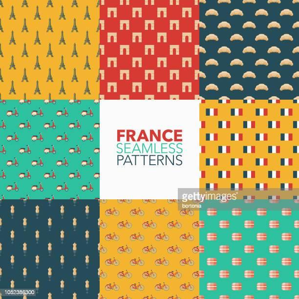 フランスのシームレスなパターン セット