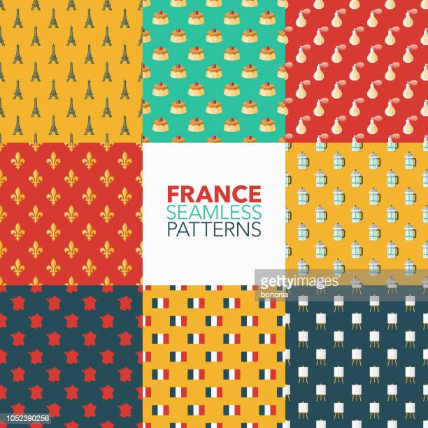 France Seamless Pattern Set