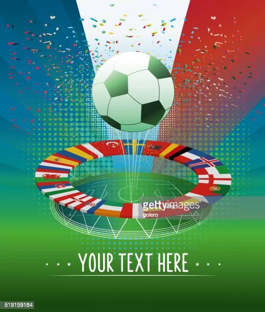 france soccer stadium banner