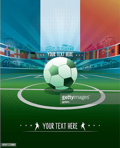 La France stade de football avec ballon pour démarrer