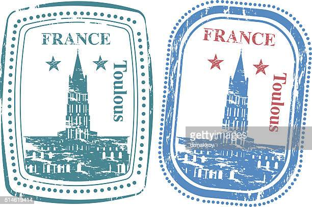 france stamp - toulouse stock illustrations, clip art, cartoons, & icons