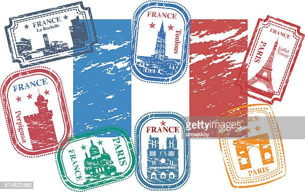 france stamps - toulouse stock illustrations, clip art, cartoons, & icons