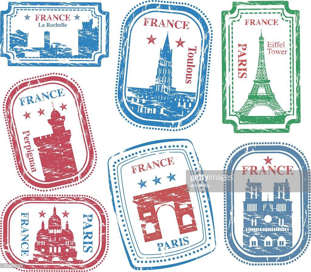 France Stamps : stock illustration