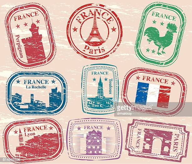 france stamps - auvergne rhône alpes stock illustrations, clip art, cartoons, & icons
