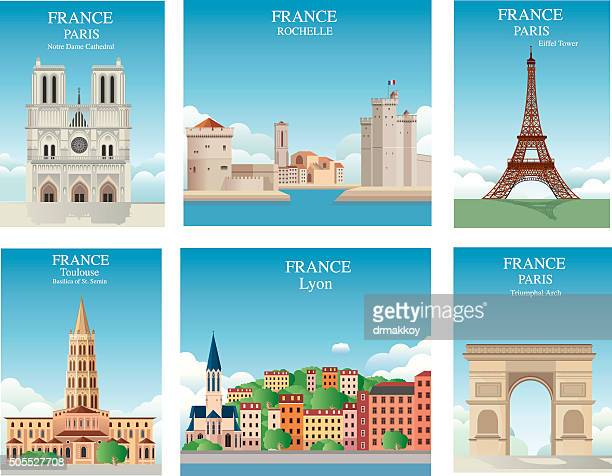 france symbols - tours france stock illustrations, clip art, cartoons, & icons