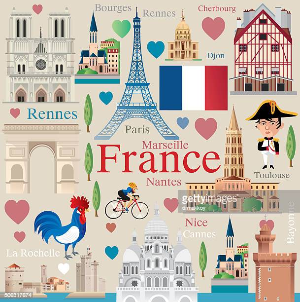 france travel - tours france stock illustrations, clip art, cartoons, & icons