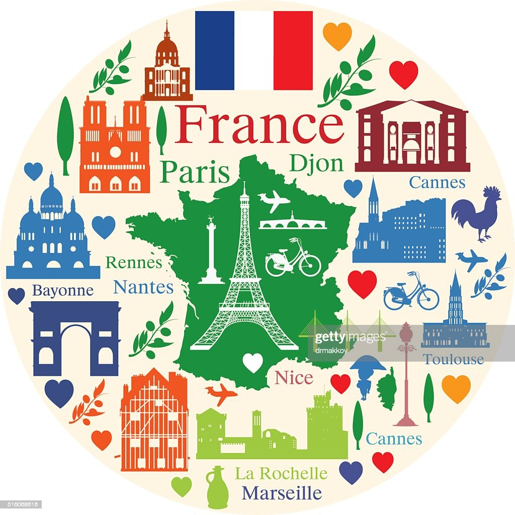 France travel : stock illustration