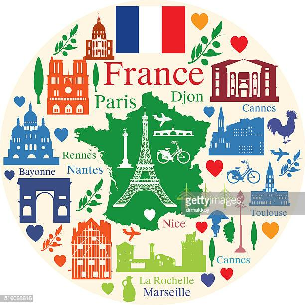 france travel - france stock illustrations