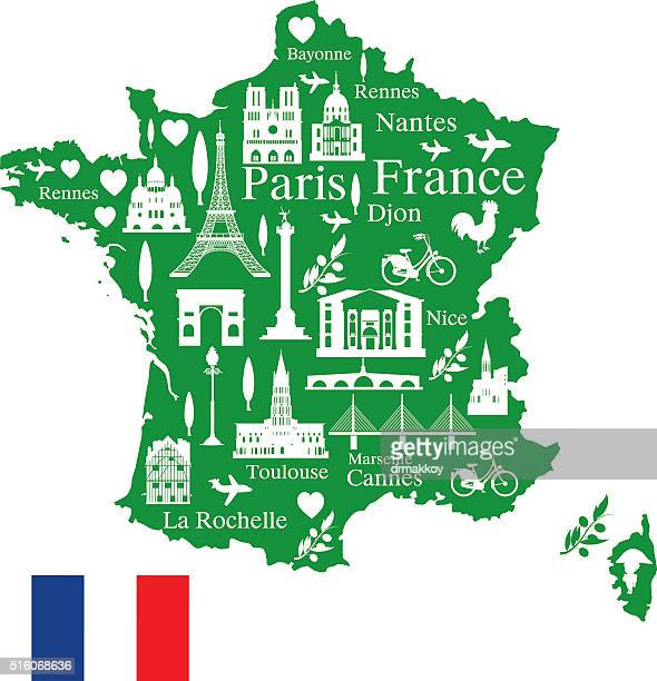 france travel - nice france stock illustrations, clip art, cartoons, & icons