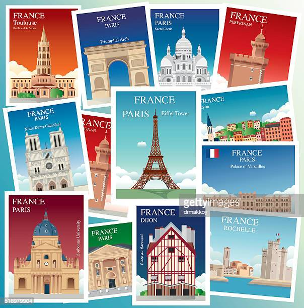 france travels - nice france stock illustrations, clip art, cartoons, & icons