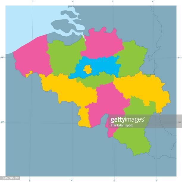 Frankreich Vektor Karte bunt Administrative Abteilungen
