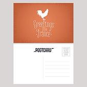 France vector postcard design