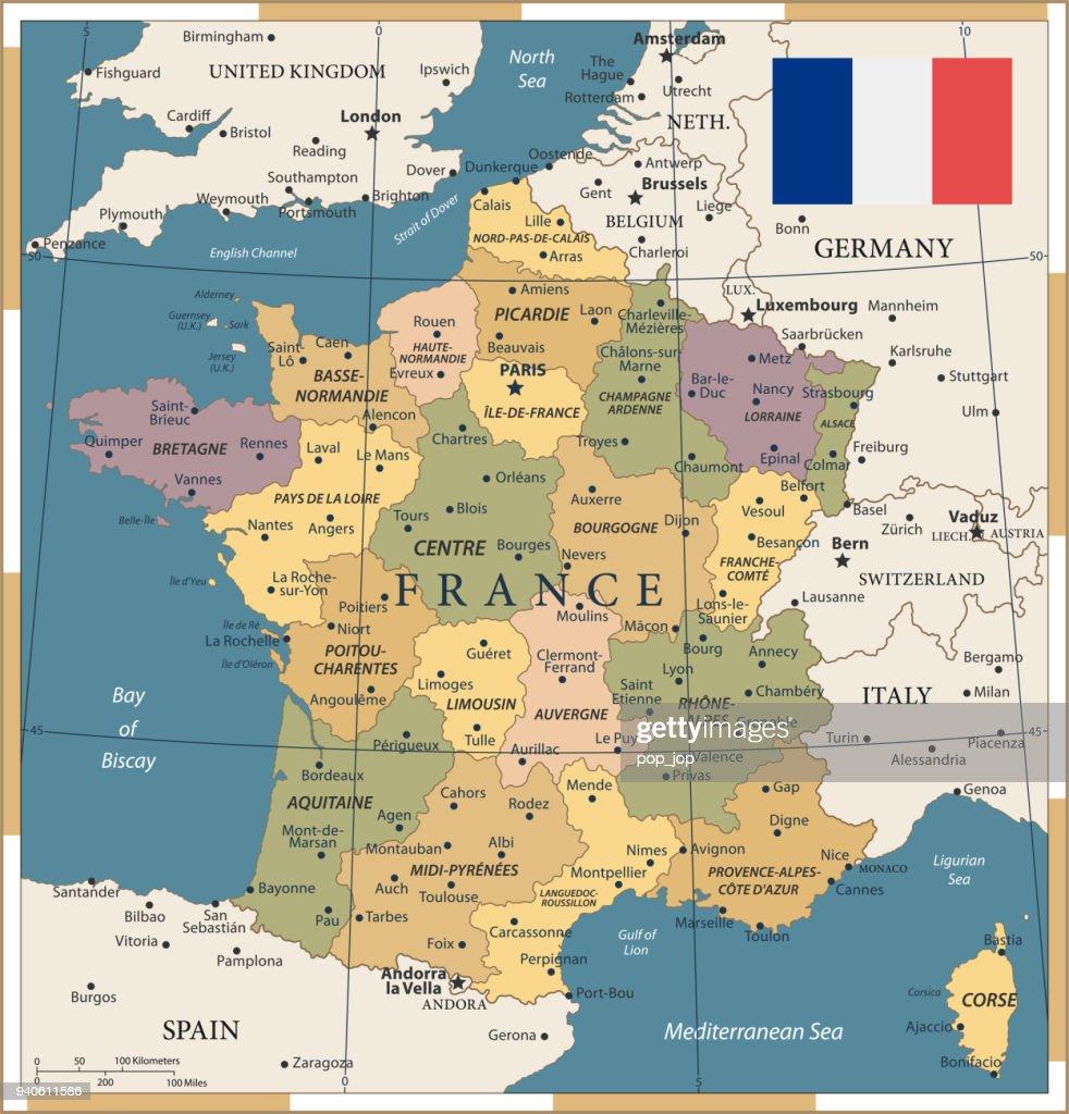 20 - France- Vintage Color Dark