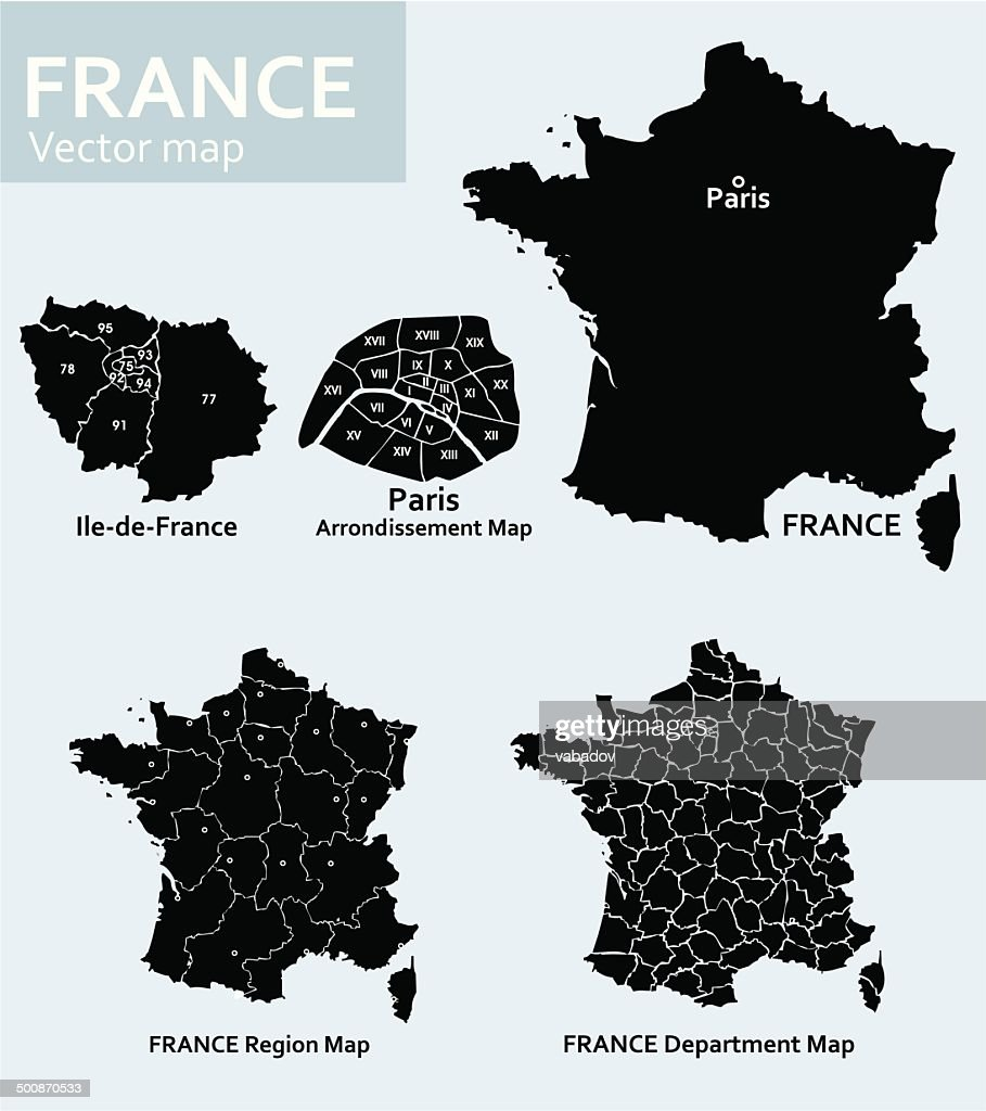 France-vector map