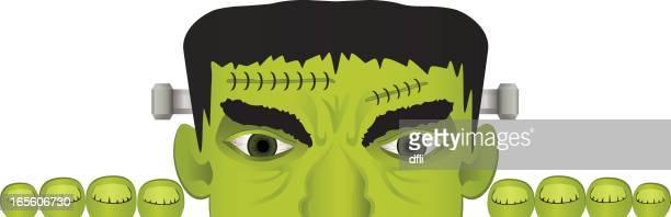 Frankenstein Halloween Border