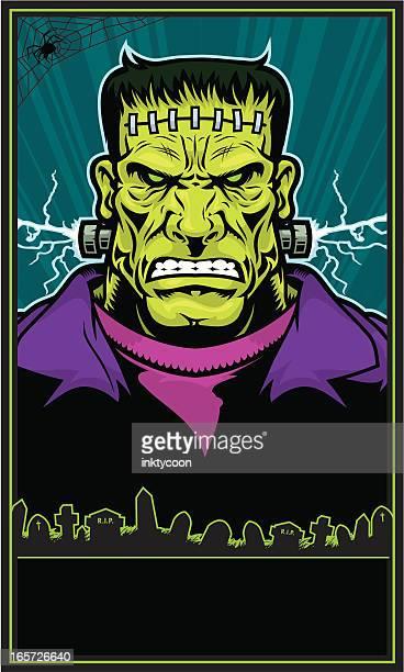 ilustrações de stock, clip art, desenhos animados e ícones de frankenstein monstro poster - frankenstein