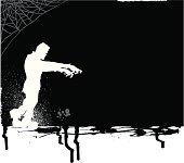Frankenstein Monster Trick or Treat Background