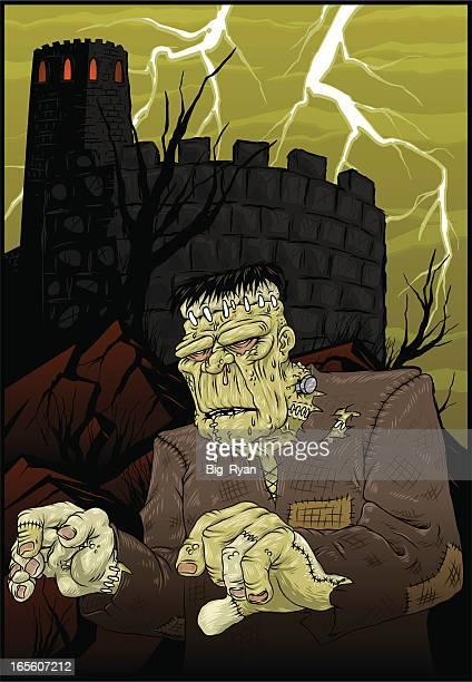 ilustrações de stock, clip art, desenhos animados e ícones de frankenstein - frankenstein