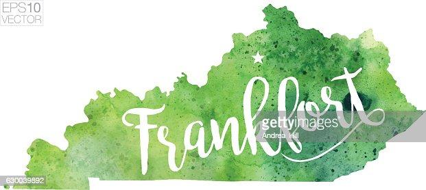 Kentucky County Map Vector Art Getty Images - Kentucky us map