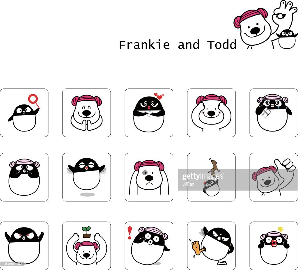 Frankie bear and Todd penguin