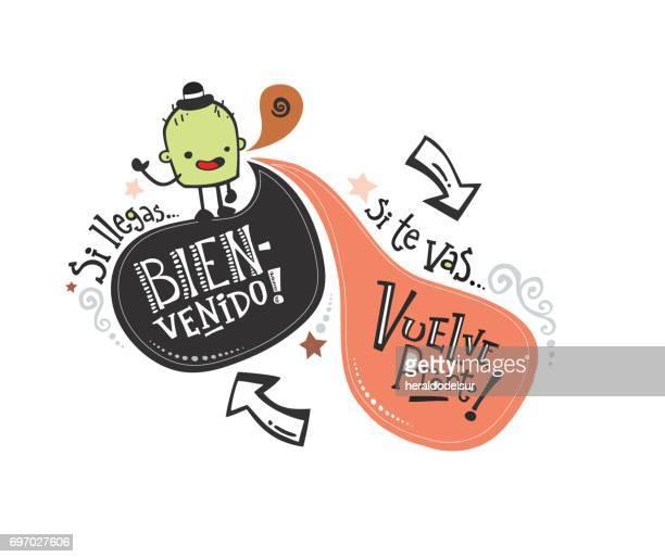 Frase de bienvenida en español_monstruito