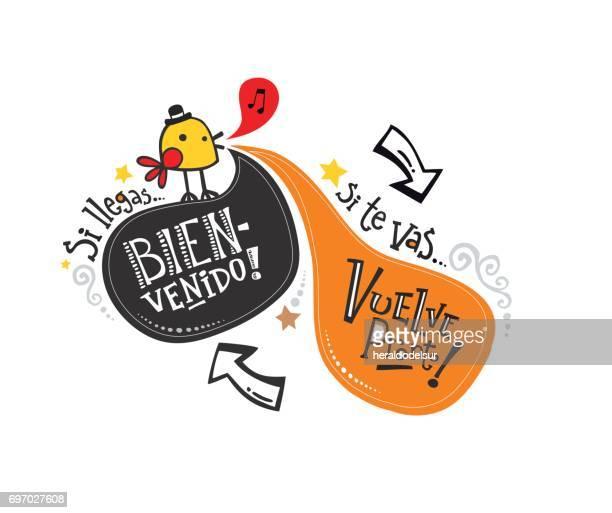 Frase de bienvenida en español_pajarito