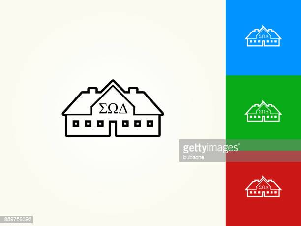 Frat House Black Stroke Linear Icon
