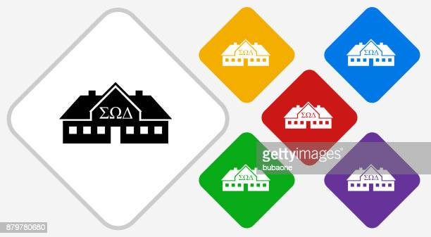 Frat House Color Diamond Vector Icon