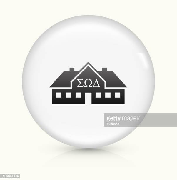 Frat House icon on white round vector button