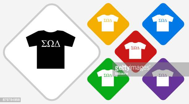 Frat T-shirt Color Diamond Vector Icon
