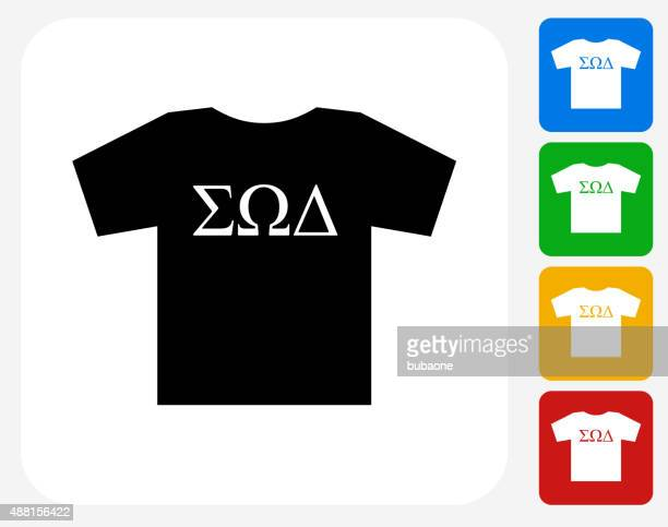 Frat T-shirt Icon Flat Graphic Design
