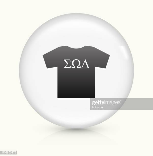 Frat T-shirt icon on white round vector button