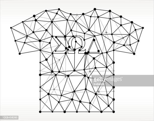 校友会 t シャツ三角形ノードの黒と白のパターン