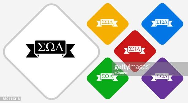 Fraternity Ribbon Color Diamond Vector Icon