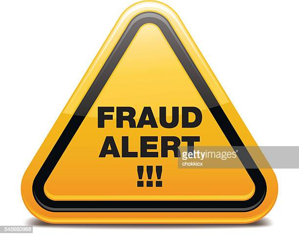 fraud alert - corporate theft stock illustrations